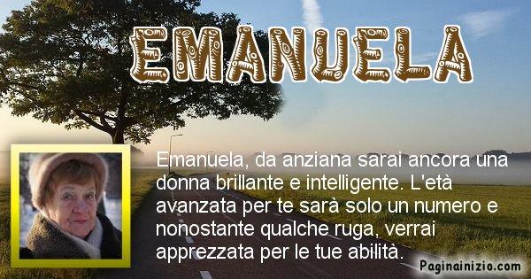 Emanuela - Come sarai da vecchio Emanuela