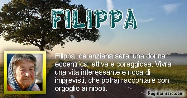 Filippa - Come sarai da vecchio Filippa