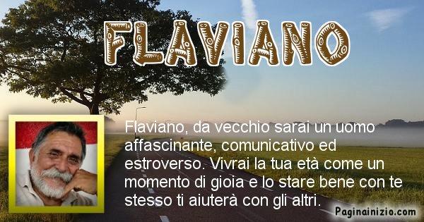 Flaviano - Come sarai da vecchio Flaviano