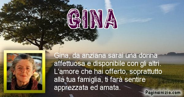 Gina - Come sarai da vecchio Gina