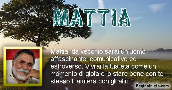 Mattia - Come sarai da vecchio Mattia