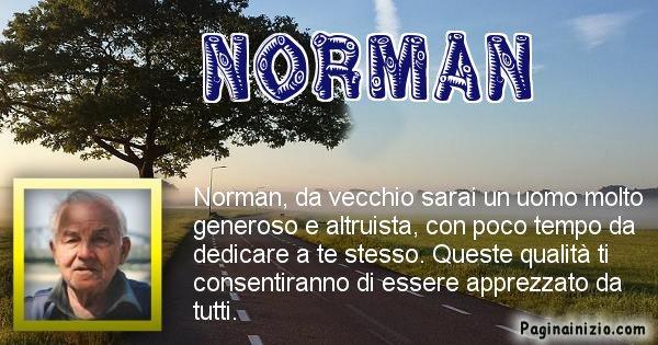 Norman - Come sarai da vecchio Norman