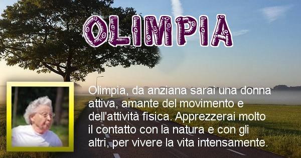Olimpia - Come sarai da vecchio Olimpia