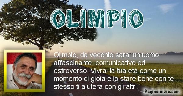 Olimpio - Come sarai da vecchio Olimpio