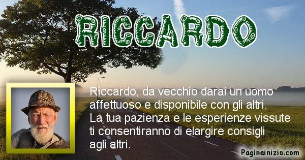 Riccardo - Come sarai da vecchio Riccardo