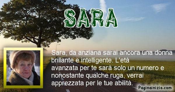 Sara - Come sarai da vecchio Sara