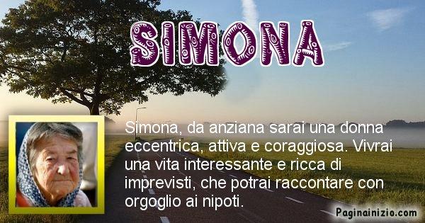 Simona - Come sarai da vecchio Simona