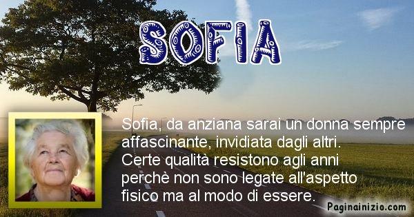 Sofia - Come sarai da vecchio Sofia