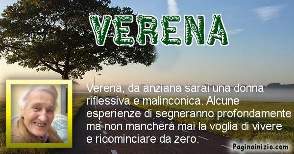 Verena - Come sarai da vecchio Verena