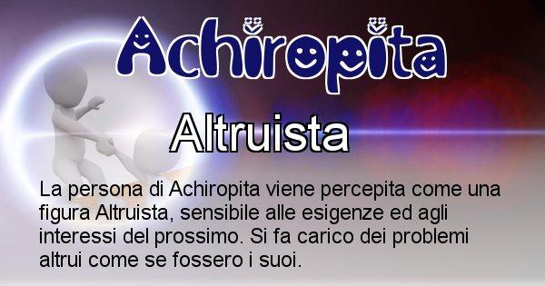 Achiropita - Come appari agli altri Achiropita