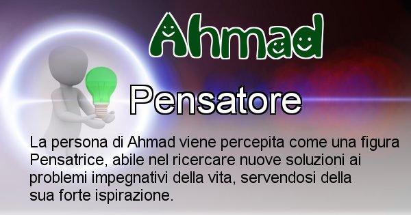 Ahmad - Come appari agli altri Ahmad