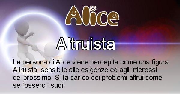 Alice - Come appari agli altri Alice