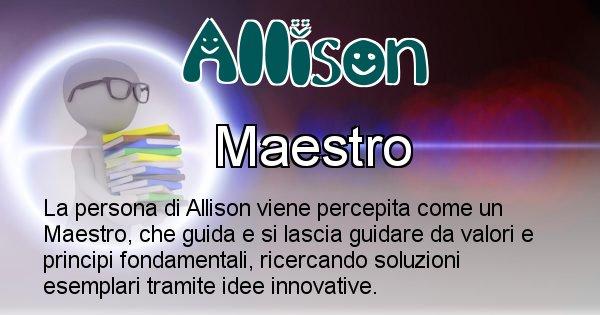 Allison - Come appari agli altri Allison