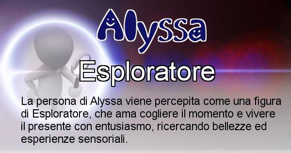 Alyssa - Come appari agli altri Alyssa