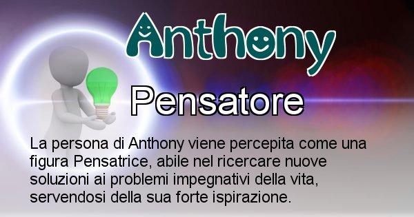 Anthony - Come appari agli altri Anthony