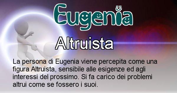 Eugenia - Come appari agli altri Eugenia