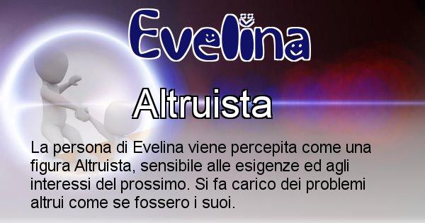 Evelina - Come appari agli altri Evelina