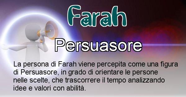 Farah - Come appari agli altri Farah
