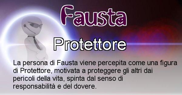 Fausta - Come appari agli altri Fausta
