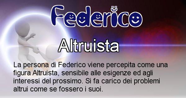 Federico - Come appari agli altri Federico