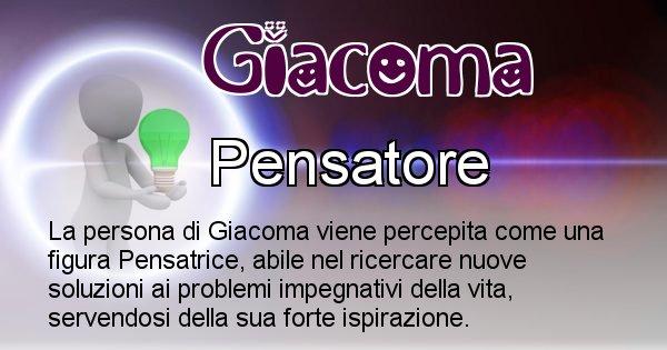 Giacoma - Come appari agli altri Giacoma