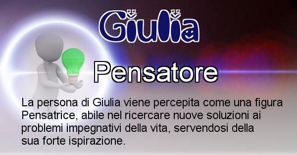 Giulia - Come appari agli altri Giulia