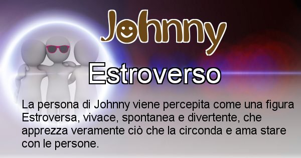 Johnny - Come appari agli altri Johnny