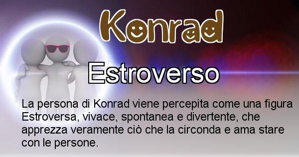 Konrad - Come appari agli altri Konrad