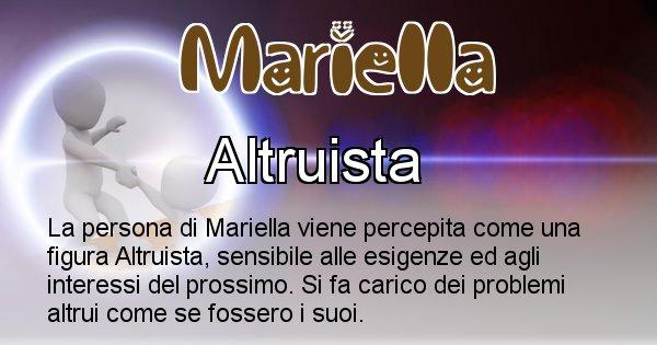Mariella - Come appari agli altri Mariella