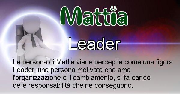 Mattia - Come appari agli altri Mattia