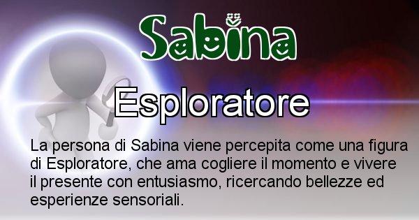 Sabina - Come appari agli altri Sabina