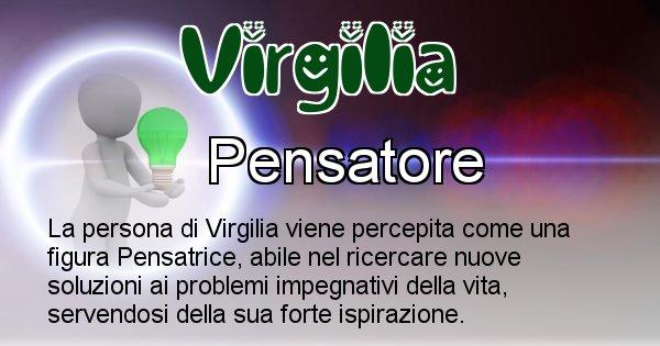 Virgilia - Come appari agli altri Virgilia