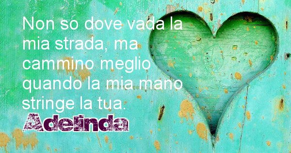 Adelinda - Dedica d'amore a nome di Adelinda