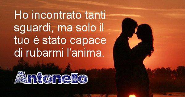 Antonello - Dedica d'amore a nome di Antonello