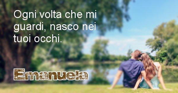 Emanuela - Dedica d'amore a nome di Emanuela
