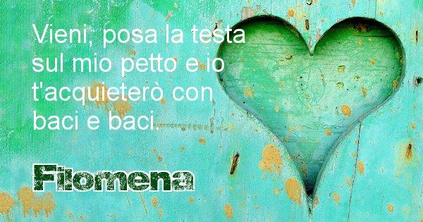 Filomena - Dedica d'amore a nome di Filomena