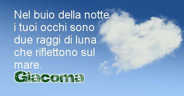 Giacoma - Dedica d'amore a nome di Giacoma