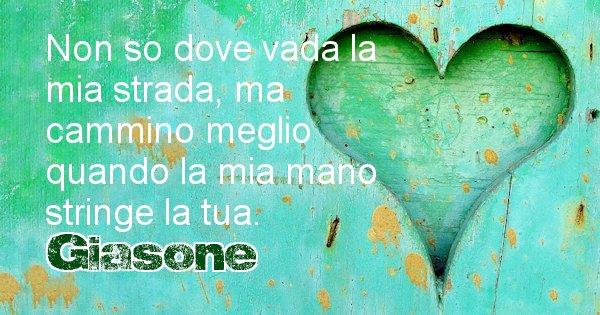 Giasone - Dedica d'amore a nome di Giasone