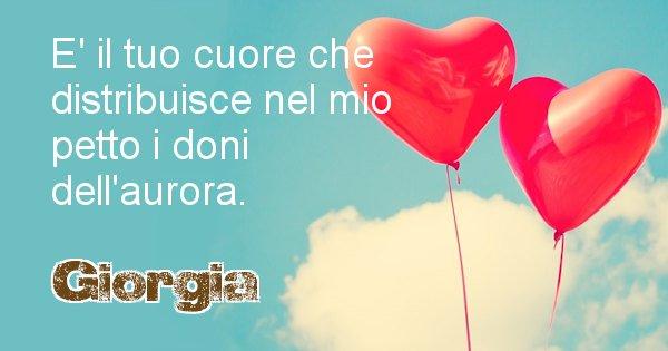 Giorgia - Dedica d'amore a nome di Giorgia
