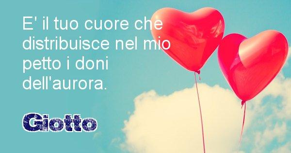 Giotto - Dedica d'amore a nome di Giotto