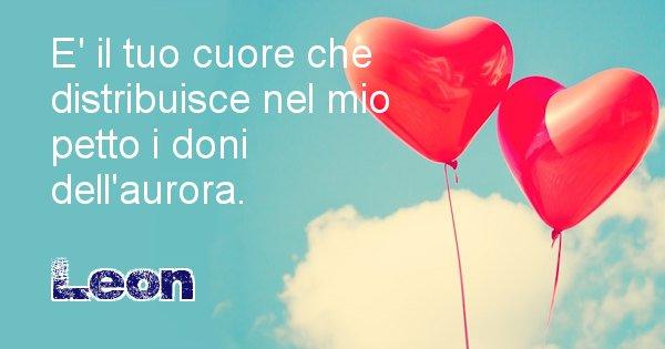 Leon - Dedica d'amore a nome di Leon