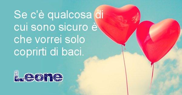 Leone - Dedica d'amore a nome di Leone