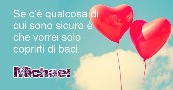 Michael - Dedica d'amore a nome di Michael