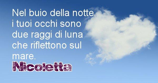 Nicoletta - Dedica d'amore a nome di Nicoletta