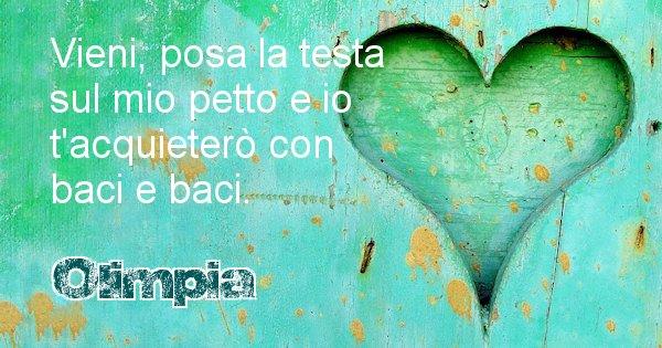 Olimpia - Dedica d'amore a nome di Olimpia