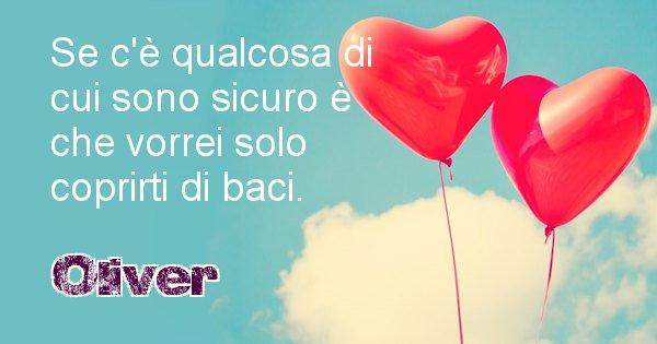 Oliver - Dedica d'amore a nome di Oliver