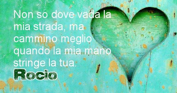 Rocio - Dedica d'amore a nome di Rocio