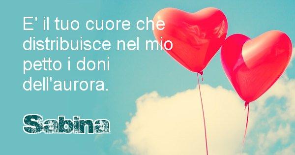 Sabina - Dedica d'amore a nome di Sabina