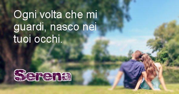 Serena - Dedica d'amore a nome di Serena