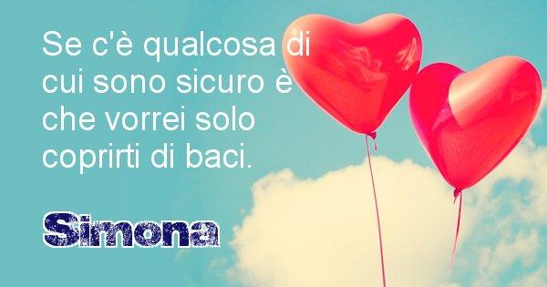 Simona - Dedica d'amore a nome di Simona
